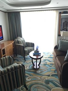 Disney Fantasy Concierge Cabin 12006 sitting area