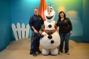 Olaf at his Meet and Greet at Disney's Hollywood studios