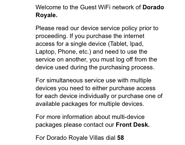 El Dorado Royale Internet Prices