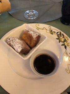 Gluten free Beignets aboard the Disney Wonder in Tiana's Place