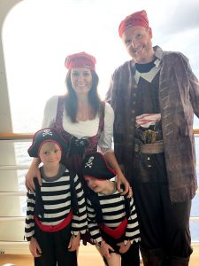 All ready for Pirate night on Disney Cruise Line