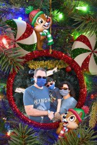 Chip & Dale Disney Photo Pass Epcot Photo.
